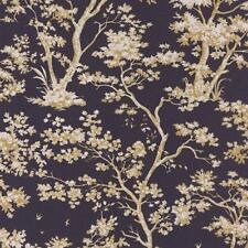 81525205 - Fontainebleau Black Beige Vintage Tree Casadeco Wallpaper