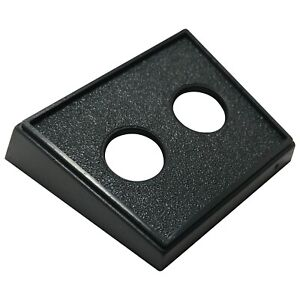 5 Pack Toggle Switch Double Round Black Mounting Panel W/ Two 1/2 Diameter Holes