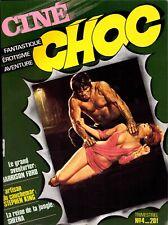 CINÉ CHOC  No.4. 12/84 FANTASTIQUE, ÉROTISME, AVENTURE: H.Ford, Stephen King