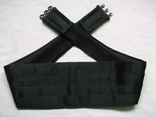 Cummerbund Mens Pleated Vintage Retro 1990s BLACK by Marks and Spencer M&S
