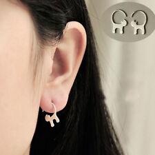 Long Tail Cat S925 Pure Silver Ear Stud Earrings Cute Animal Party Jewelry