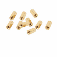 10Pcs M3 Female Thread 10mm Long Hexagonal Hex Brass Pillar Standoff Spacer
