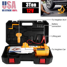 3 Ton(6600lb) Electric Jack DC 12v All-in-one Lift Scissor Jack Car Repair Tool