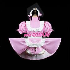 PVC Romper Lockable adult baby Sissy maid  dress 3 Locks Tailor-Made [G2418]