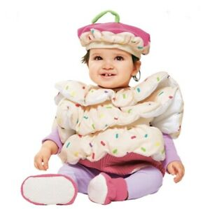 Infant Girls Hyde and EEK Cupcake Costume Size 0-6 months , Hat ,Booties, Vest