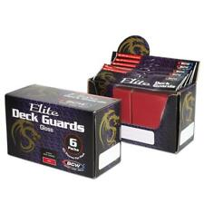 BCW Deck Guard - Elite Glossy Red (80 ct) 3-Box Lot