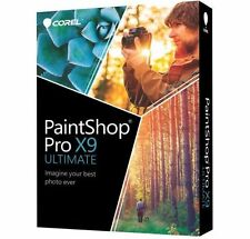 Brand New Corel PaintShop Pro X9 Ultimate Full Retail Box Paint Shop (Exp Post)