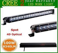 "21"" CREE Slim Single Row 100W SPOT LED Light Bar 4D Optical Off-road Jeep SUV"
