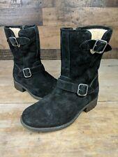 UGG Australia CHANEY Black Suede Boots 1006042 Women's Sz 6.5 S05