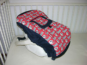 Sports theme baby car seat cover