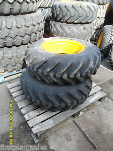 Michelin 340 80 20 Tyre C/W JCB 5 Stud Wheel (50)