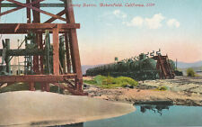Bakersfield CA * Oil RR Cars at Shipping Station ca. 1910 * Oil Well Industry