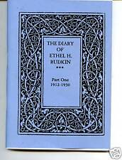 THE DIARY OF ETHEL  H. RUDKIN 1912-1930 LINCOLNSHIRE