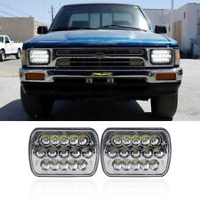 FITS TOYOTA PICKUP TRUCK 7X6 INCH SEALED BEAM H4 H/L LED HEADLIGHT ASSEMBLY KITS