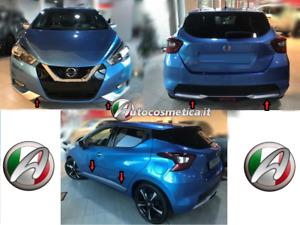 Modanature paraurti ant+post+laterale Vibrant Chrome per Nissan Micra 17>