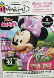 Disney Junior Minnie Mouse 44 Colorforms Sticker Story Adventure1 Set Play Board