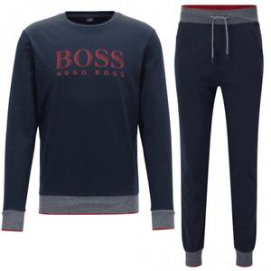 Hugo Boss FULL Tracksuit Men/'s Top and Bottom Brand New ALL SIZES Black