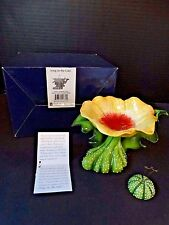 Blue Sky Clayworks Icing on the Cake ~ Yellow Poppy Tealight Stand ~ Nib