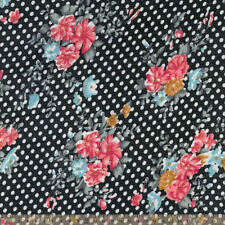 "Unbranded 1 - 2 Metres Floral Cotton 46 - 59"" Craft Fabrics"