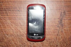 Used & Untested LG C395 Xpression Red Slide Phone For Parts & Repairs Only