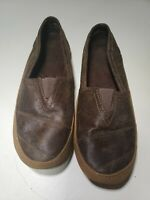St.Johns Bay Womens Brown Slip On Flats Leather Sz US 8.5 M 8 1/2