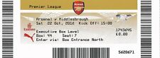 * USED MATCH TICKET -  ARSENAL v MIDDLESBROUGH (22nd October 2016) *