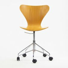 Vintage Arne Jacobsen 3117 Rolling Desk Chair by Fritz Hansen Denmark 3x Avail