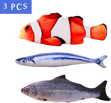 3Pcs Realistic Catnip Fish Toys for Cats North American Organic Catnip - Sale!