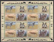 UNO Wien 1993 ** Mi.143/46 Tiere Animals Pinguine Penguins Zebra Wolf [sr2011]