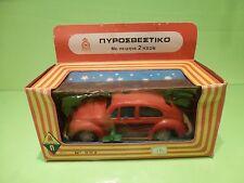 PLASTIC VOLKSWAGEN BEETLE  VW KAFER -  1:20-   USSR  ??  - GOOD CONDITION IN BOX