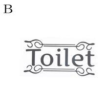 Wall Sticker Bathroom Toilet Door Vinyl Decal Transfer Decoration Quote Wall 3c a