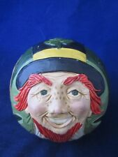 BRIERE Folk Art Pull Toy 1993 Leprechaun with Shamrock Hat BALL ONLY