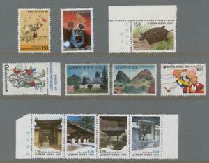 Korea F04 MNH 90s yrs 11v Fauna Butterflies Turtle Costumes Architecture