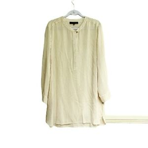 Womens Maggie T Top Plus Size 16 Stripes Silk Long Sleeve Button