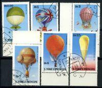 San Tommaso e il principe Isole 1979 Mi. 619-624 Usato 100% Storia dell'Aviazio