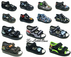 Boys canvas shoes trainers infants kids sandals slippers size 3 - 9UK