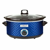 Brentwood Appliances SC-157N Bs Slow Cooker Quilted 7qt Blu (sc157n)