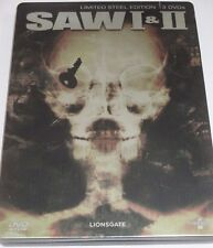 SAW I & II - 3 DVDs/Horror/Tobin Bell/Danny Glover/Lim Steelbook