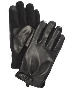 Polo Ralph Lauren Men's Nappa Hybrid Leather Gloves -Black- M