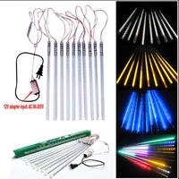 10 x 50cm Tubes String 2835 54 LED Strip Light Meteor Shower Rain + 12V Adapter