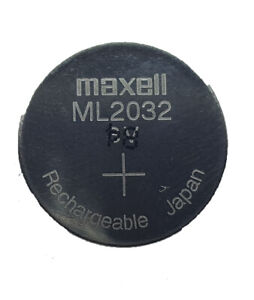 2 pc MAXELL ML2032 ML 2032 3v RECHARGEABLE LITHIUM BATTERY MANUFACTURED 12/2020