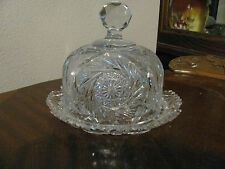 "ABP Fabulous Cut Glass Butter Dish with 6"" Dome Lid"