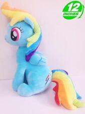 Big 12'' RAINBOW DASH Plush My Little Pony Anime Stuffed Game Toy Soft POPL8042