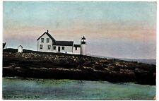 Winter Harbor Light Lighthouse Maine Vintage Postcard Leighton Germany 28066