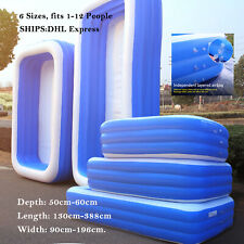 Inflatable Swimming Pool Garden Outdoor Family Kiddie Pools Swim Center, 6 SIZE!