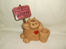 New listing Narcotics Anonymous~ Wsnac Iv 1987 Na Clay Pig Pen / Toothpick Holder