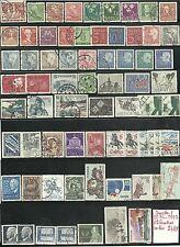 62  timbres de SUEDE oblitérés de 1974 à 1992 très bon état identique au scan