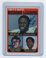 1972 PACKERS John Brockington signed card Topps #2 Rushing Leader AUTO Autograph