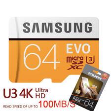 SAMSUNG 64GB Class10 UHS-3 Micro SD Micro SDXC MicroSDXC Memory Card 100MB/s EVO