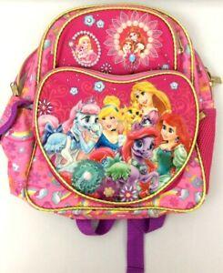 Disney Princess Aurora Cinderella Arie Pets Pink Backpack School Bag